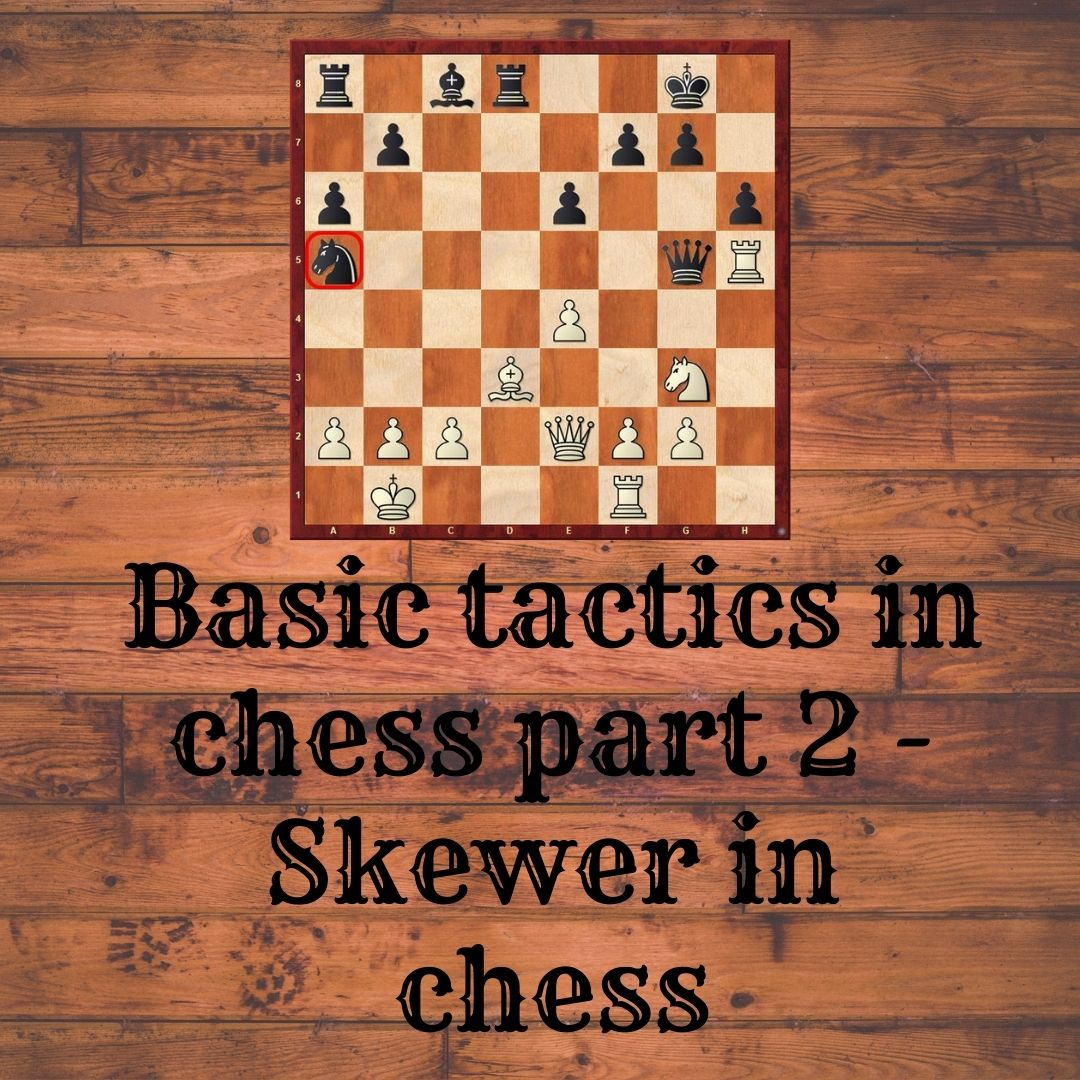 Basic tactics in chess part 2 – Skewer in chess