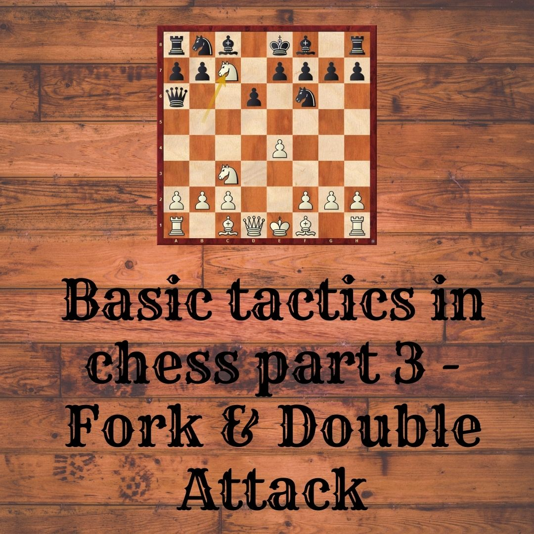 Basic Tactics in Chess Part 3 – Fork & Double Attack